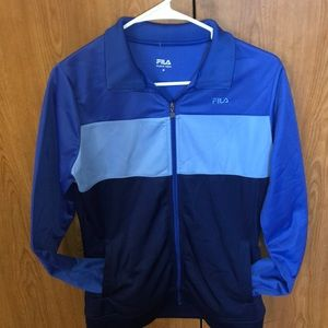 Size medium blue Fila zip up